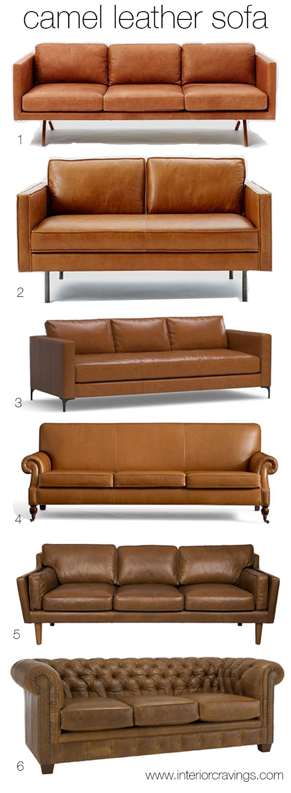 Brand-new CAMEL LEATHER SOFAS inspiration and sources | Interior Cravings  IX21
