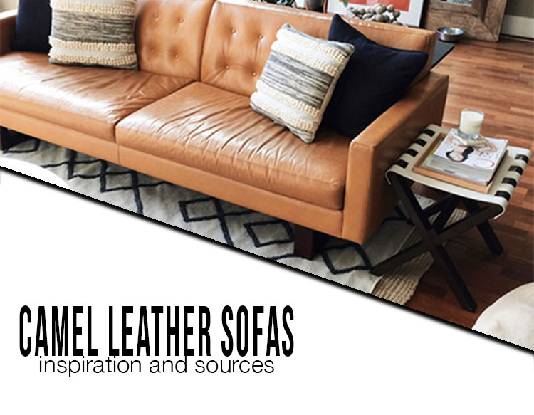camel leather sofas inspiration and sources interior cravings