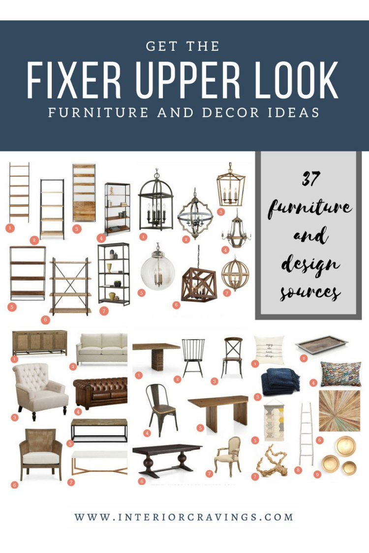 INTERIOR CRAVINGS GET THE FIXER UPPER LOOK 37 FURNITURE AND DECOR IDEAS SOURCES