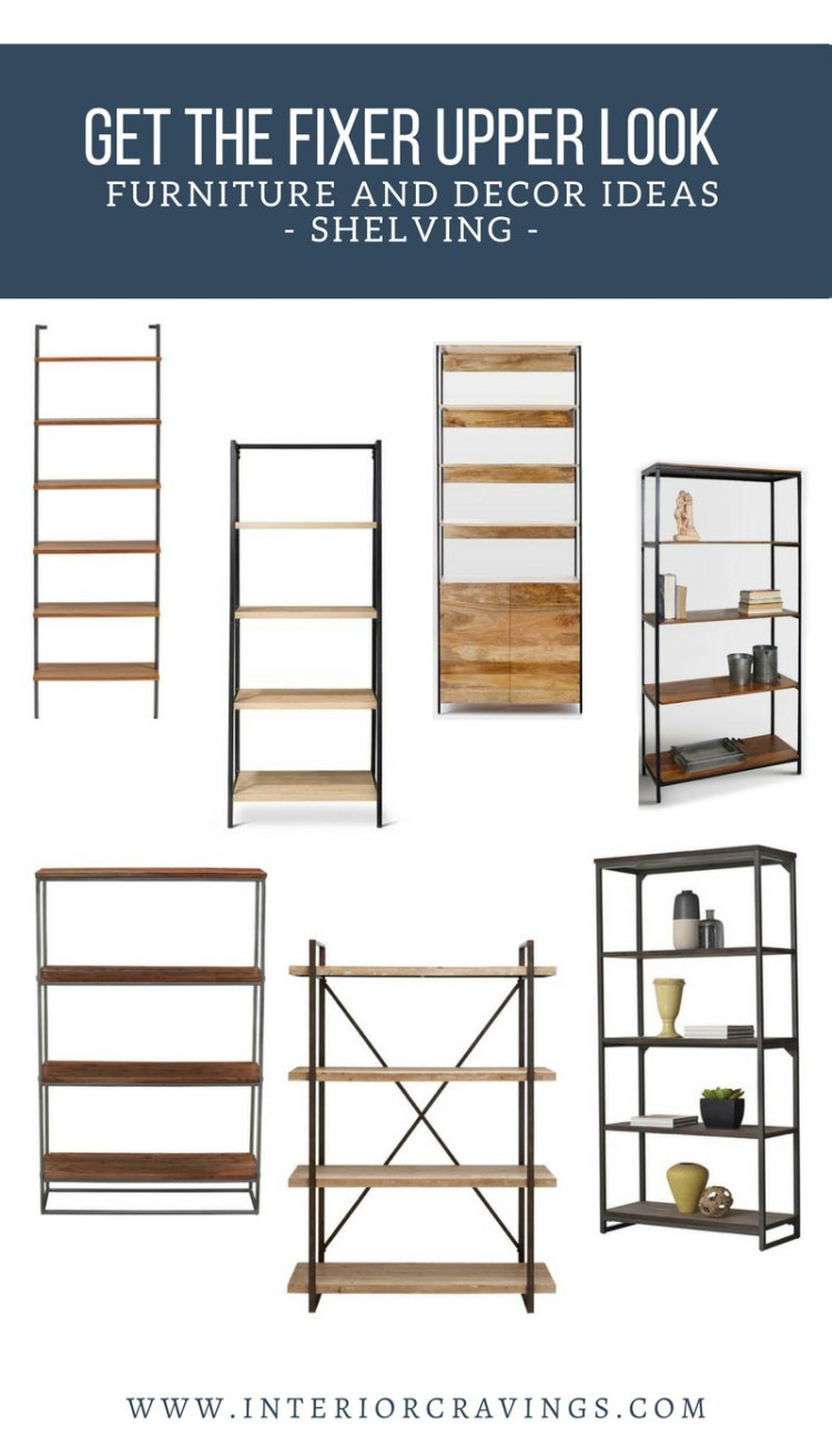 INTERIOR CRAVINGS GET THE FIXER UPPER LOOK BOOKCASES AND SHELVING