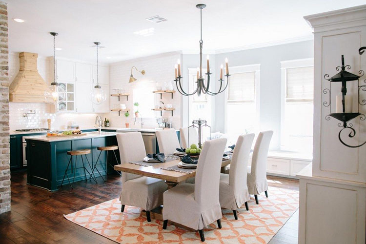 INTERIOR CRAVINGS GET THE FIXER UPPER LOOK FURNITURE AND DECOR IDEAS OPEN KITCHEN AND DINING ROOM