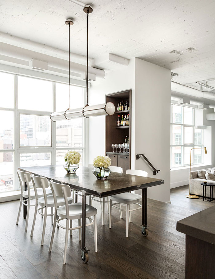 INTERIOR CRAVINGS MODERN INDUSTRIAL LOFT BY CROMA DINING ROOM 1