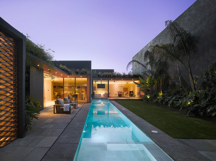 interior cravings modern interior design that incorporate tropical elements pool at night architecture 2 casa barrancas ezequiel farca