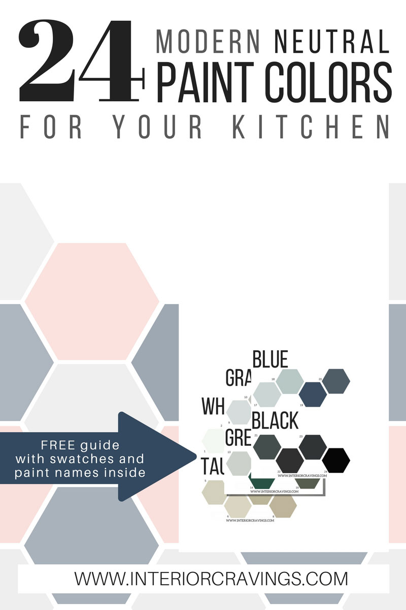 24 modern neutral paint colors for your kitchen remodel 2