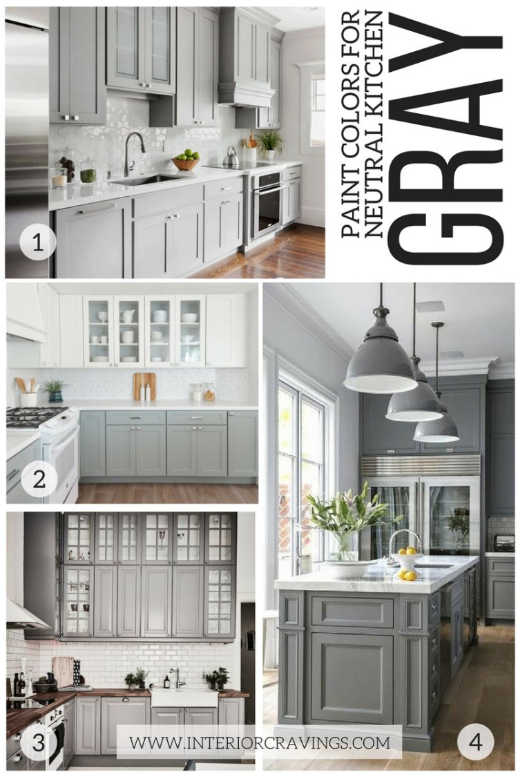 MY FAVORITE GRAY KITCHENS - NEUTRAL PAINT COLORS FOR YOUR KITCHEN REMODEL