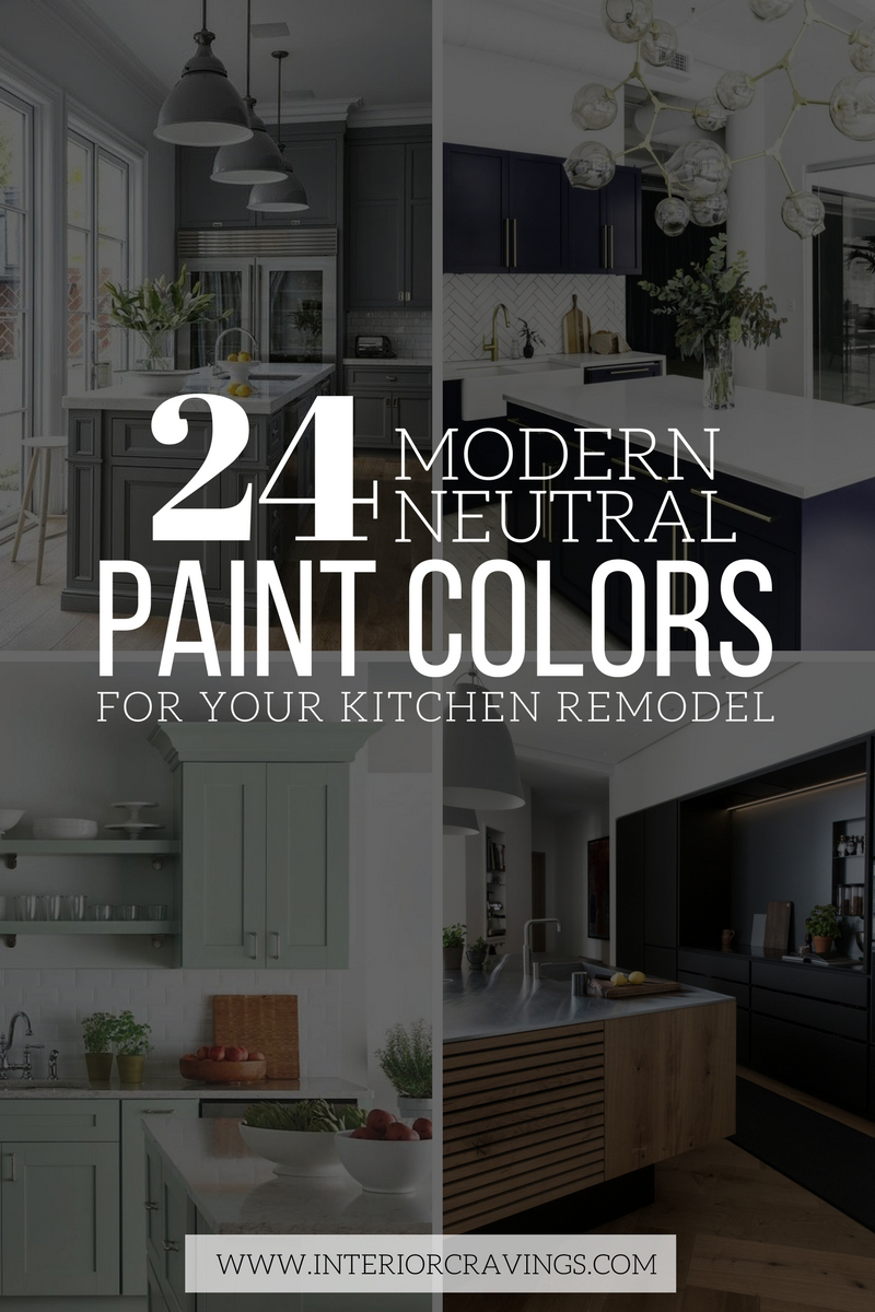 24 Modern Neutral Paint Colors For Your Kitchen Remodel Interior