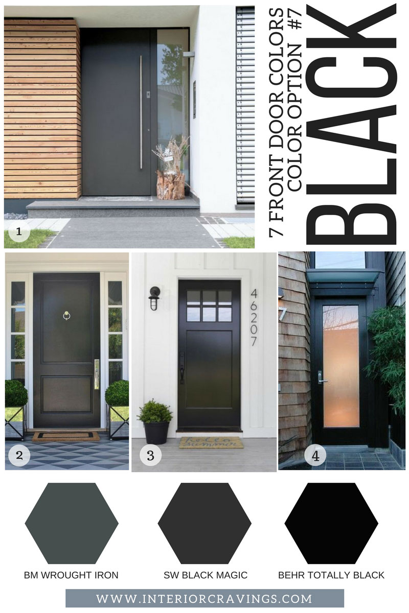 7 FRONT DOOR COLORS - black front doors inspiration and black paint codes and paint swatches