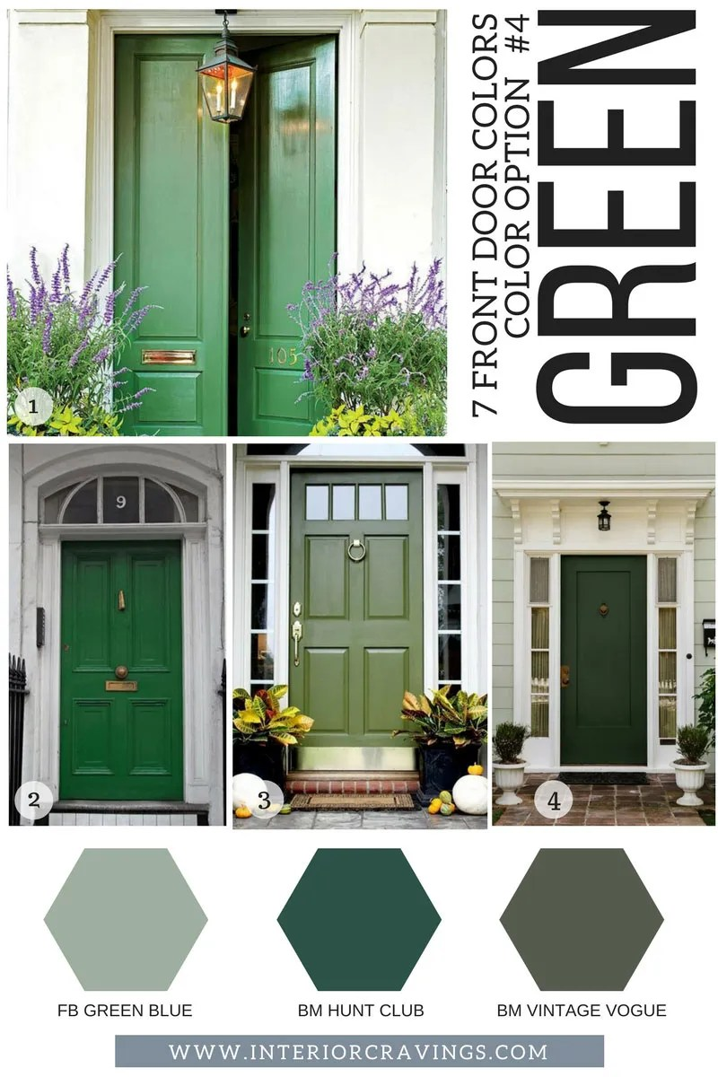 Exterior Door Colors: 7 FRONT DOOR COLORS TO MAKE YOUR HOME STAND OUT