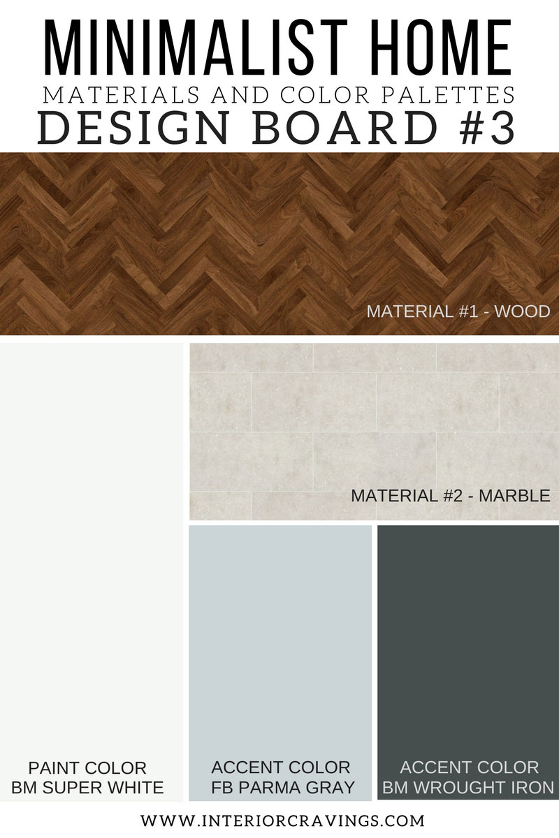 Minimalist home essentials materials and color palette for Minimalist house materials