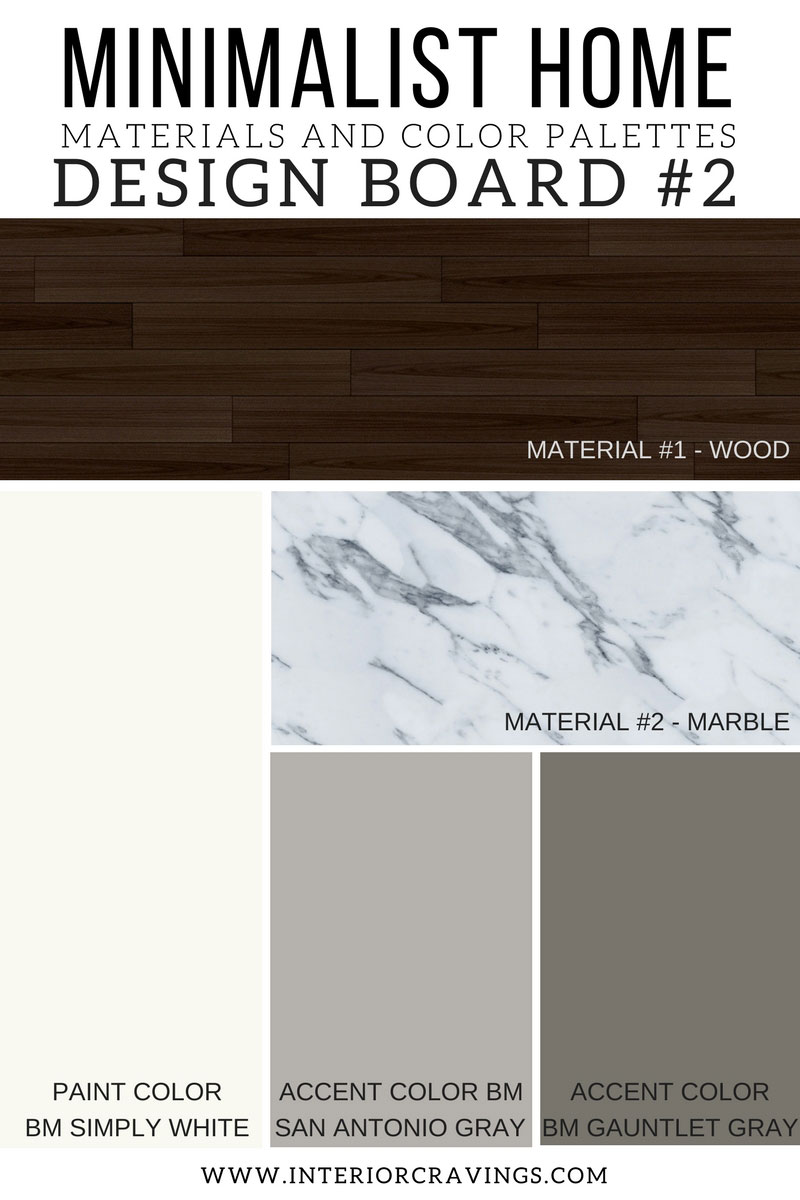 INTERIOR CRAVINGS MINIMALIST HOME ESSENTIALS MATERIALS AND COLOR PALETTES MINIMALIST DESIGN BOARD 3