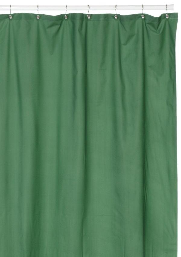 Hotel Quality 8 Gauge Vinyl Shower Curtain Liner Evergreen - Interiordecorating