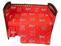 Nebraska Cornhuskers Crib Bedding Set - InteriorDecorating