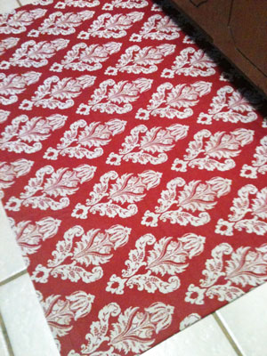How To Make A Custom Fabric Rug  DIY Projects  Stepby