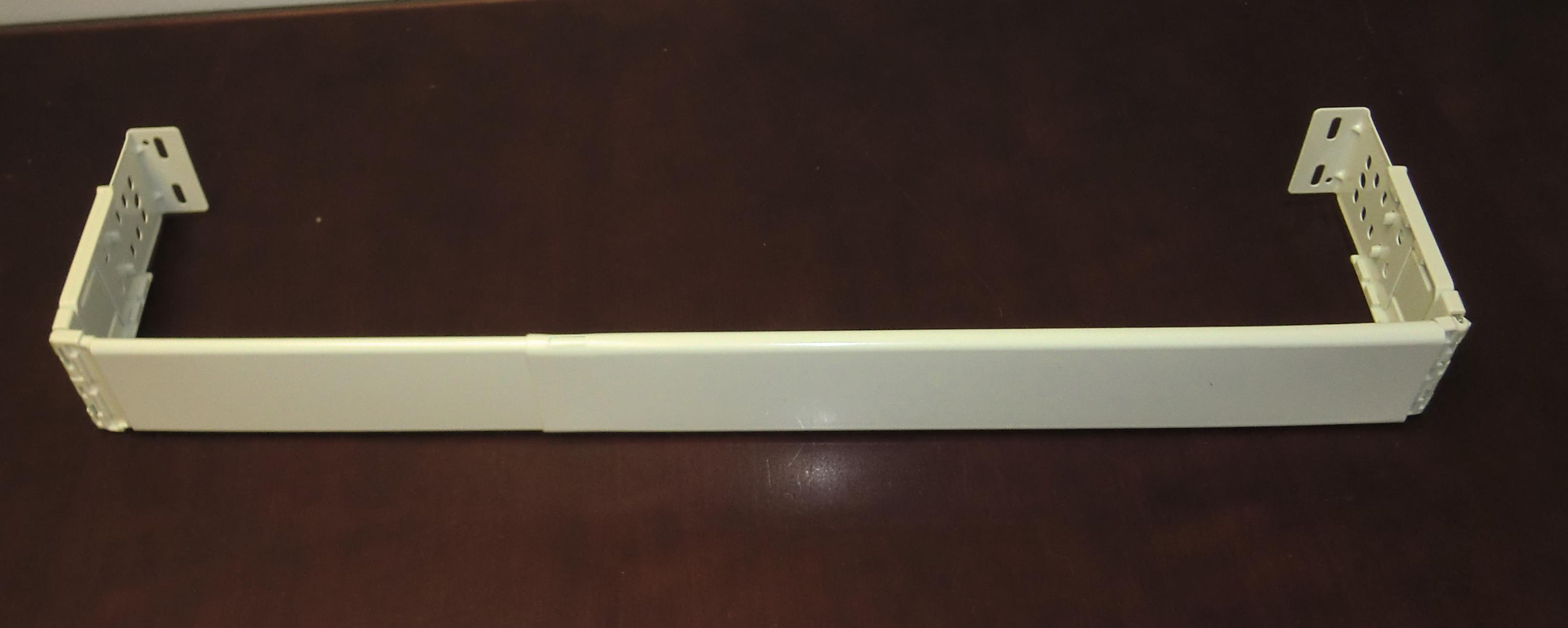 2 1 2 inch dauphine curtain rod 48 to 84 inches