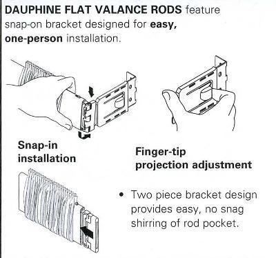 4 1 2 inch dauphine curtain rod
