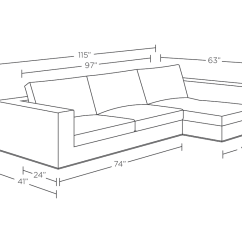 Width Of A Sofa Bed Art Sectional Measurements Trend