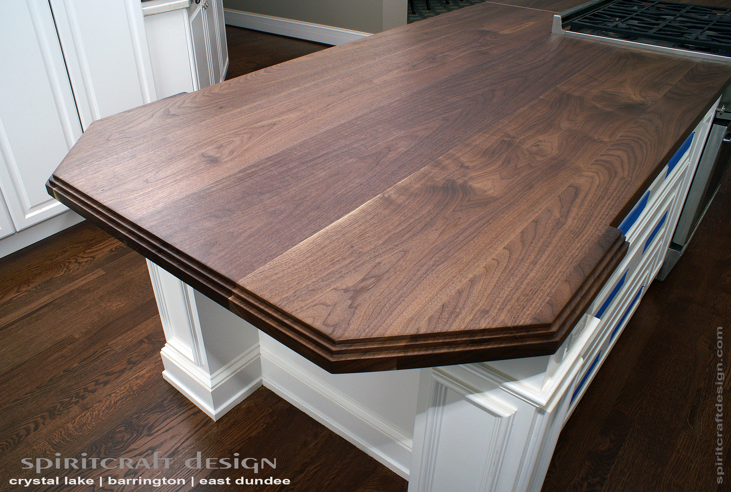 black walnut kitchen table used mobile kitchens for sale custom slab island top by spiritcraft