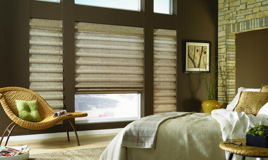 Graber Roman Shades  Custom Window Treaments by