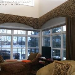 Large Kitchen Window Treatments Remodeling Houston Cornice With Drapery Panels Interior