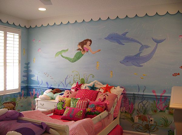 Baby Girl Wallpapers For Rooms Mermaid Theme D 233 Cor For Kids Interior Designing Ideas