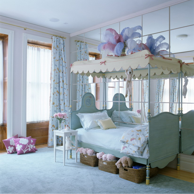 How to decorate blue bedroom for girls  Interior Designing Ideas