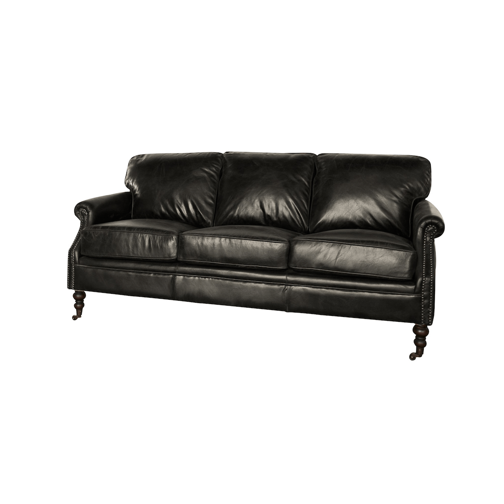 3 seater black leather sofa office set lancaster seating sofas