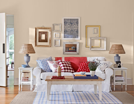 American Country Interior Design. Living Room Country Style