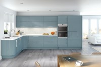 Glacier High Gloss Metallic Blue Kitchen - Interior ...