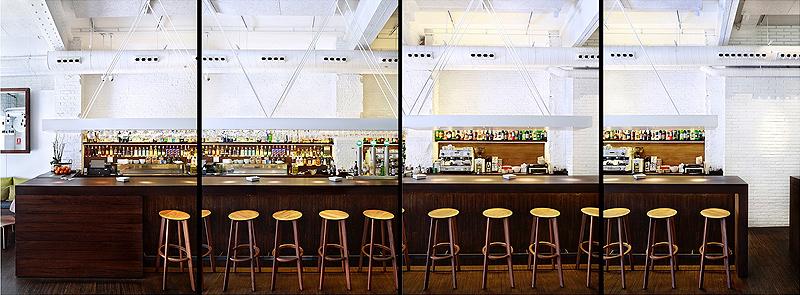 Bar restaurante Raf diseado por IV Arquitectura