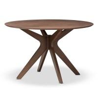 Baxton Studio Monte Mid-Century Modern Walnut Wood 47-Inch ...