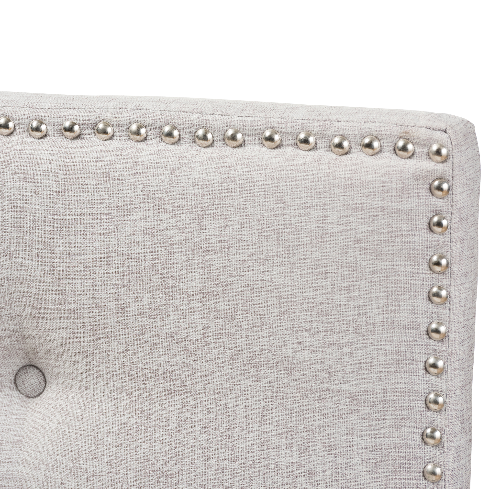 grey sofa with silver nailheads bed best deals baxton studio windsor modern and contemporary greyish ...