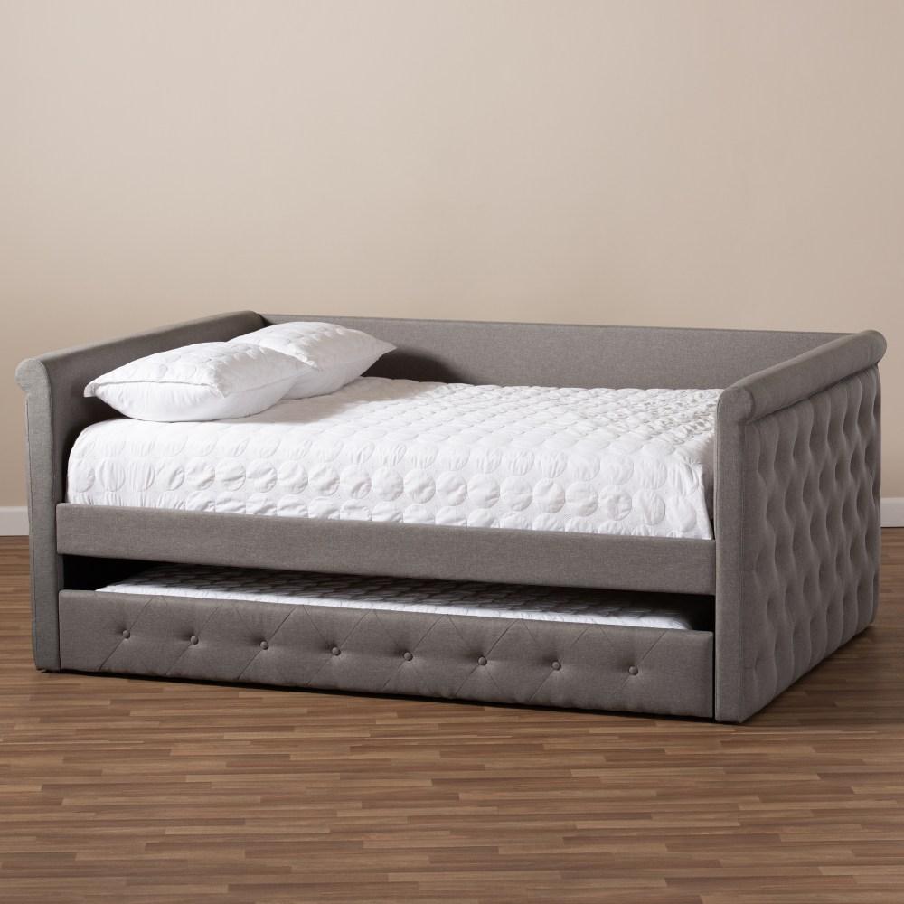 Baxton Studio Alena Modern And Contemporary Grey Fabric