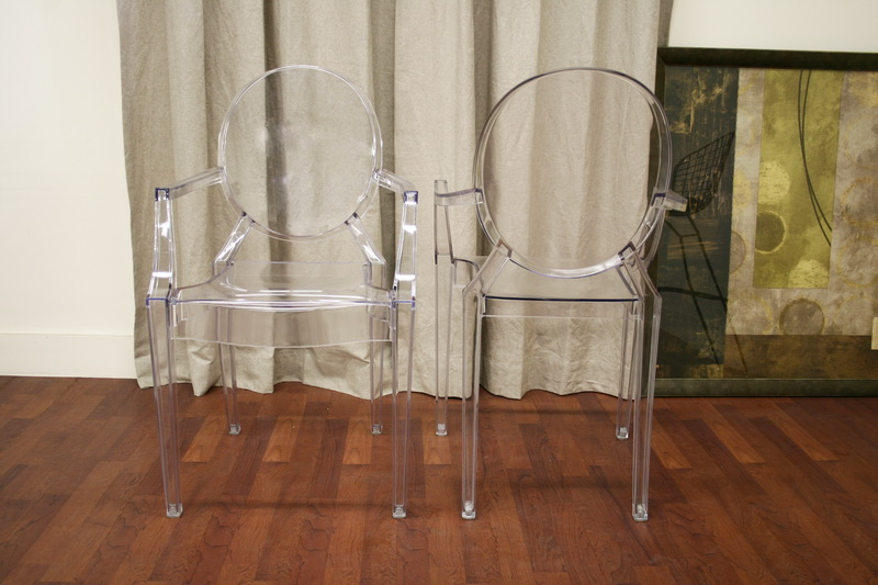 rocking chair and ottoman set hanging cushion ghost - clear acrylic stackable arm | interior express