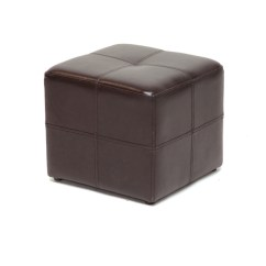 Brown Accent Chairs Tall Desk With Backs Nox Leather Small Inexpensive Cube Ottoman | Interior Express