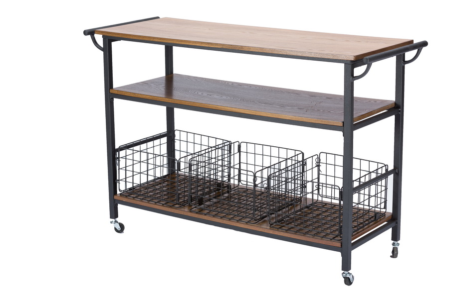 antique folding rocking chair wwe steel gif baxton studiolancashire brown wood & metal kitchen cart | interior express