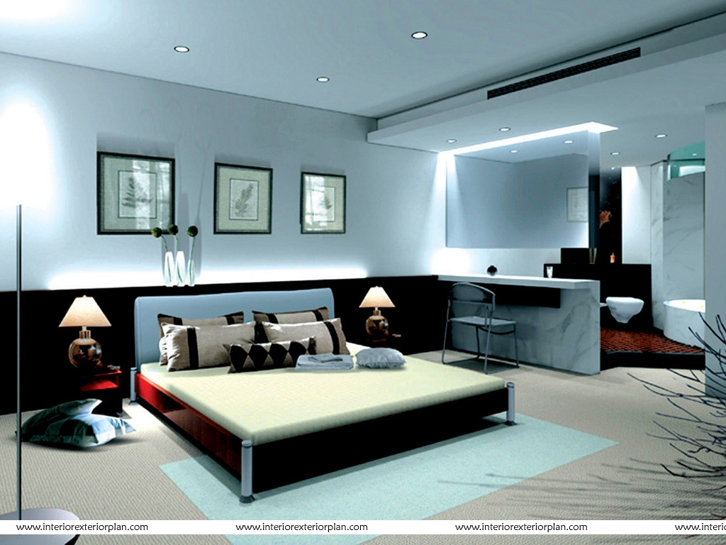 Interior Exterior Plan  No Frills Bedroom Design