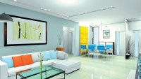 Multi Color Living Room Wall - Modern home design ideas