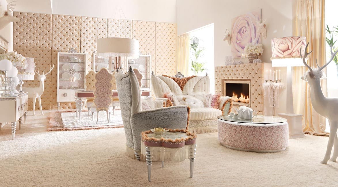 Interior Exterior Plan  Use pink and white color for airy