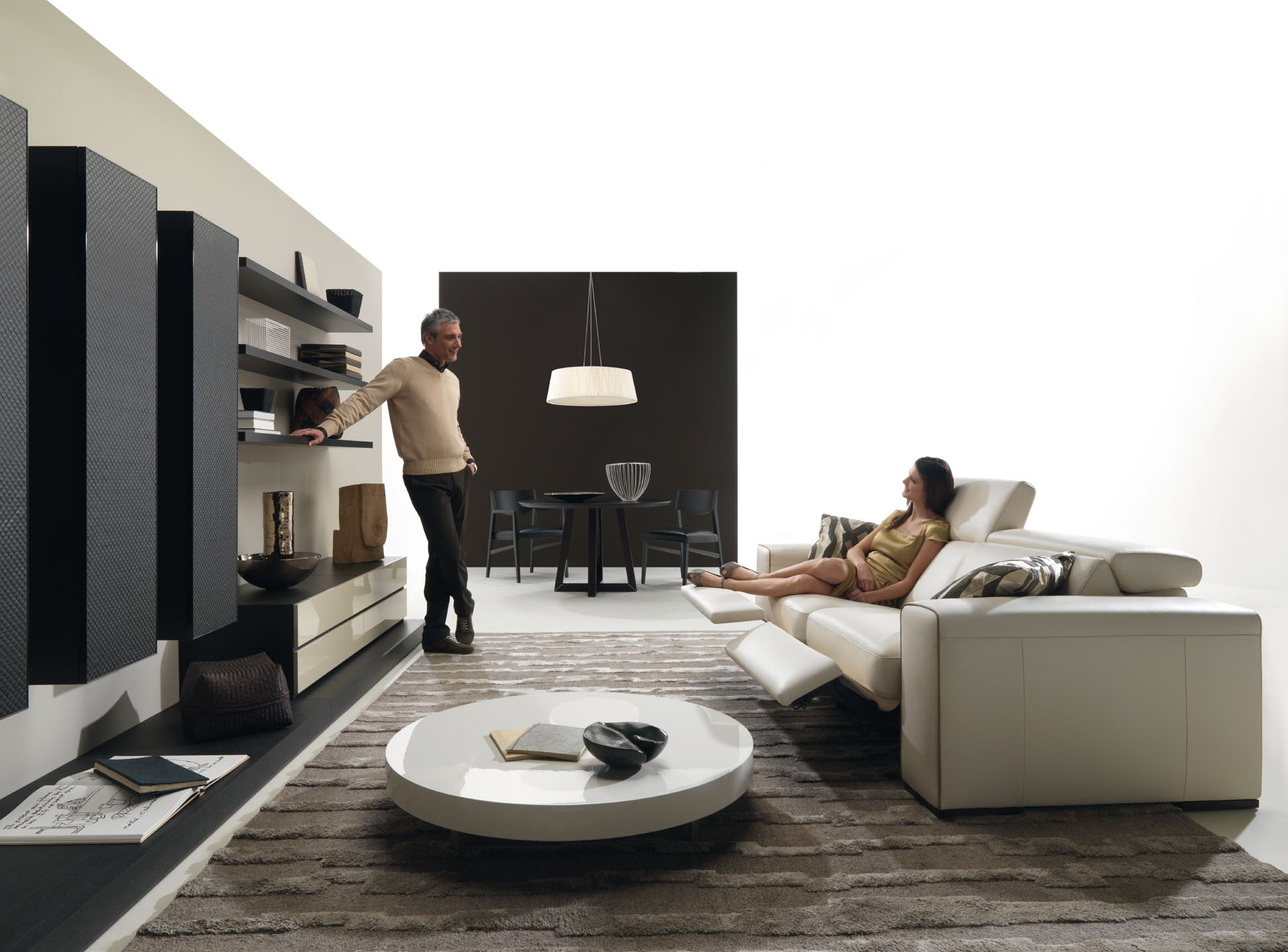 modern interior design living room black and white sofa colors for small exterior plan yet area