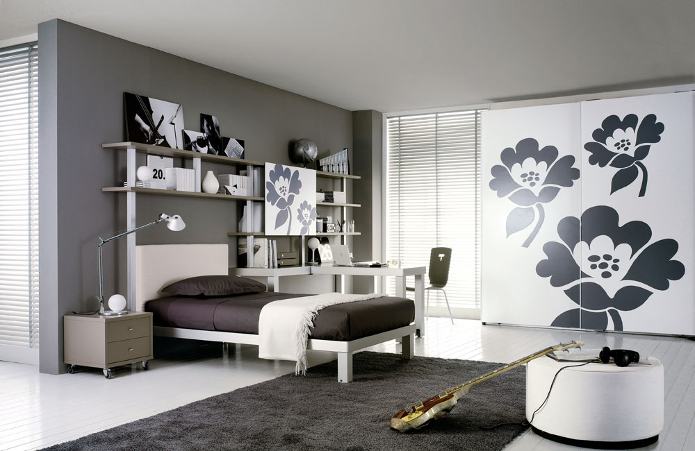 Interior Exterior Plan  Compromise with your teen on one wall and paint other walls in grey