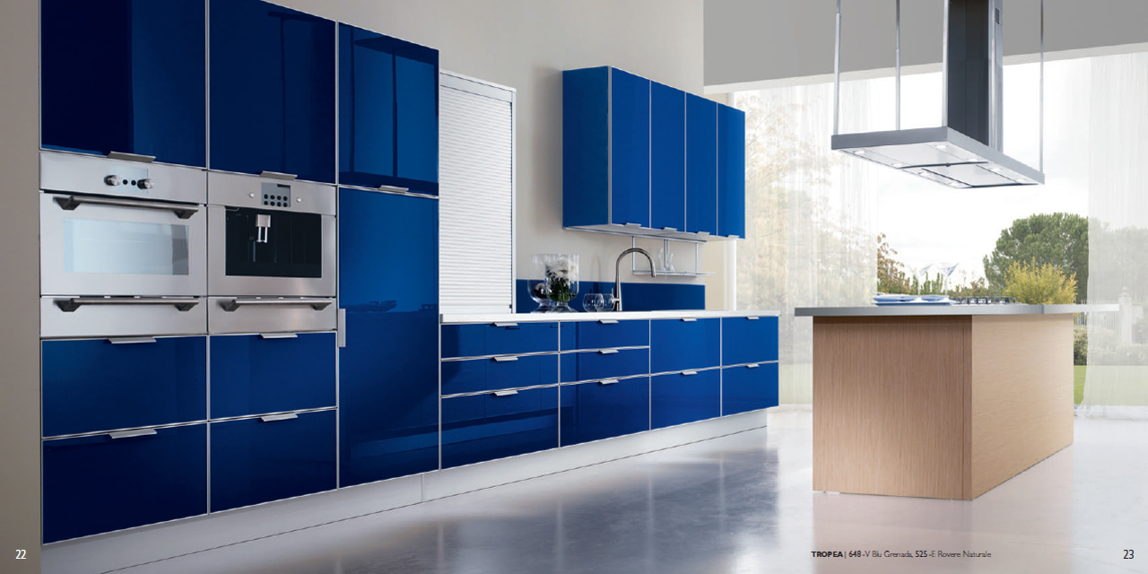 Interior Exterior Plan  Kitchen Concept with a Blue
