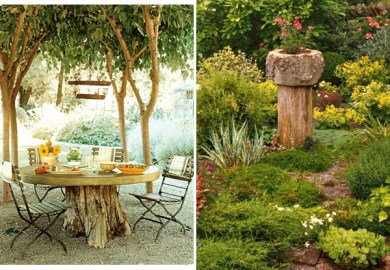 3 Ways To Decorate Old Tree Stumps In Garden