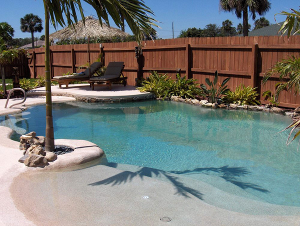 Beach Entry Pool For Your Backyard