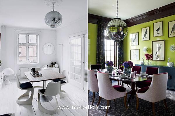 decorate large living room red curtains disco ball in interior decor   interiorholic.com