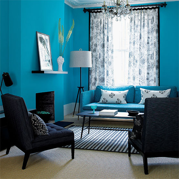 Interesting Blue Color Schemes For Living Room  InteriorHoliccom