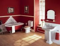 Red Bathroom Design Ideas | InteriorHolic.com