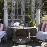 Outdoor Decor Using Old Doors | just b.CAUSE