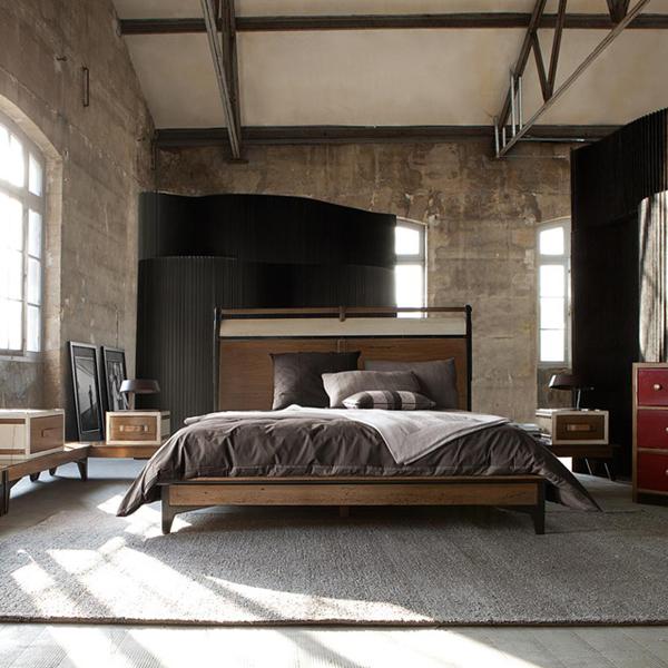 Stylish Industrial Chic Bedroom Designs