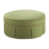"Stanford Furniture Riffle Large 41"" Round Ottoman"