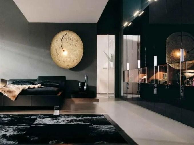 Black-Bedroom-Decorating-Ideas-with-moon-beam